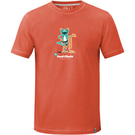ABK Frog T-shirt Homme, deep coral